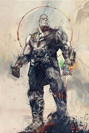 Quadro Vingadores - Thanos Artístico