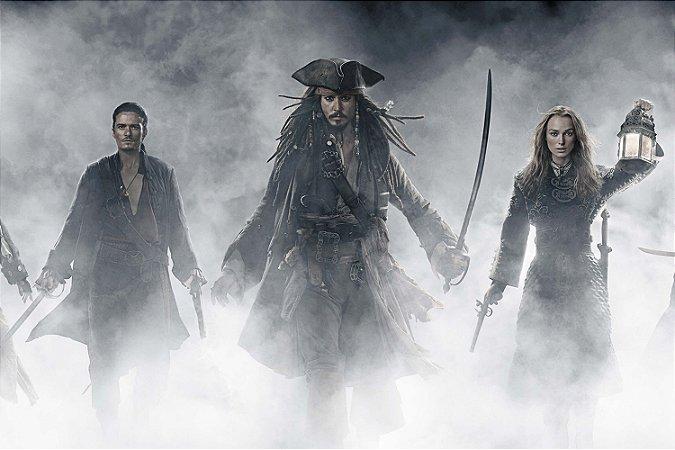 Quadro Piratas do Caribe - Jack Sparrow Névoa 2