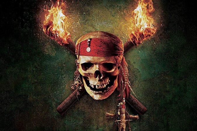 Quadro Piratas do Caribe - Caveira