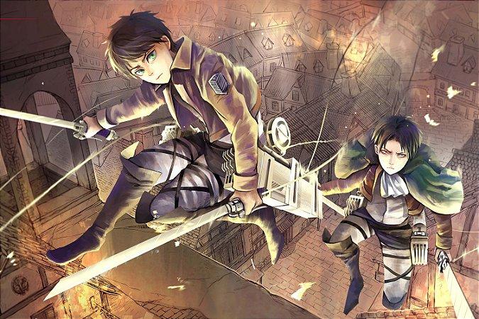 Quadro Attack on Titan - Eren e Levi