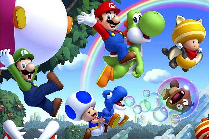 Quadro Gamer Mario - Personagens