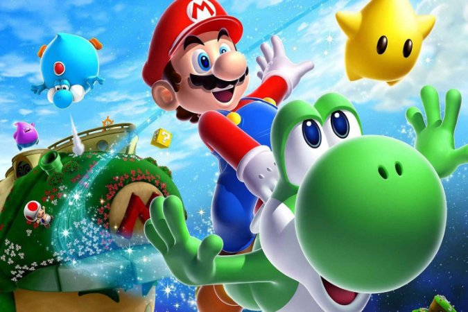 Quadro Gamer Mario - Personagens 2