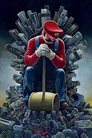 Quadro Gamer Mario - Trono