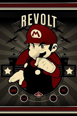 Quadro Gamer Mario - Revolt