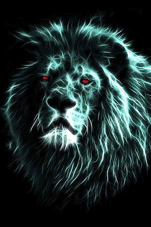 Quadro Leão - Energia Azul