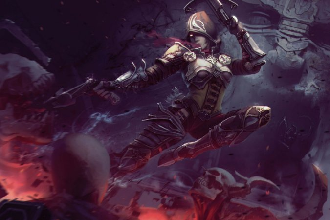 Quadro Gamer Diablo - Caçadora de Demônios 3