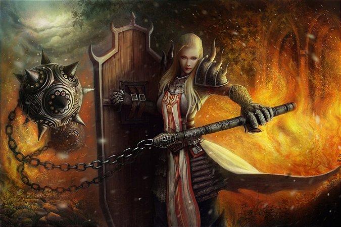 Quadro Gamer Diablo - Cruzada