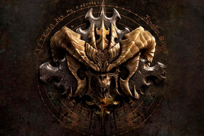 Quadro Gamer Diablo - Símbolo