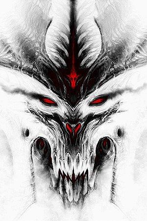 Quadro Gamer Diablo - Branco
