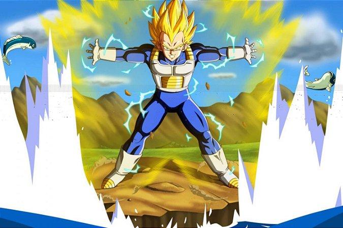 Quadro Dragon Ball - Vegeta Super Saiyajin 2