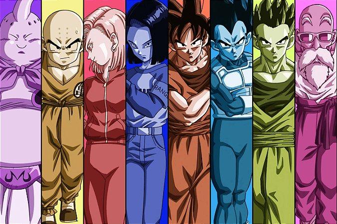 Quadro Dragon Ball - Personagens