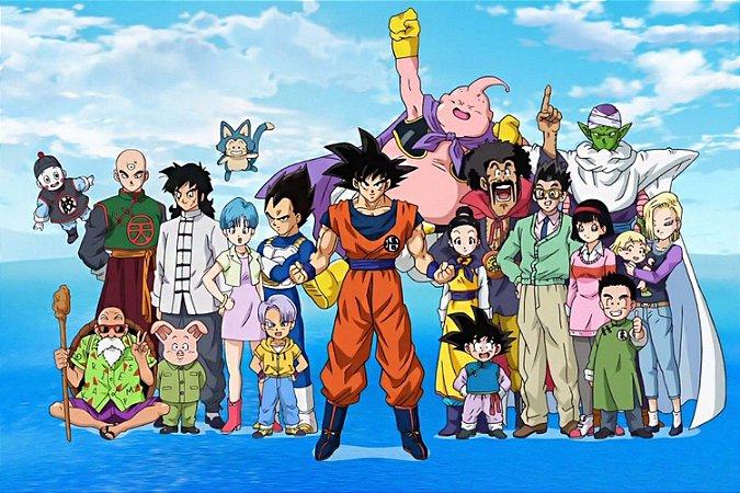 Quadro Dragon Ball - Todos os Personagens