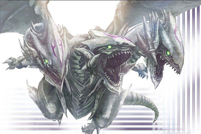Quadro Anime Yu-Gi-Oh - Dragão 3 Cabeças