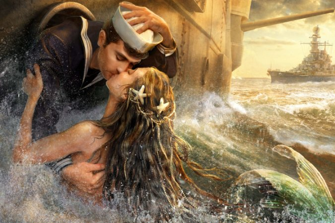 Quadro Mar - O Beijo