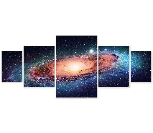 5 Quadros Decorativos Mosaico - Espaço