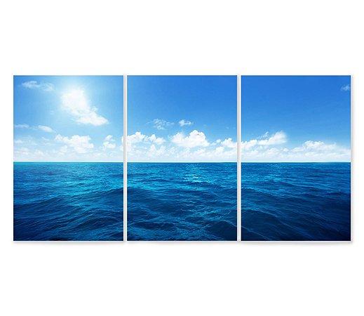 Kit 3 Quadros Oceano
