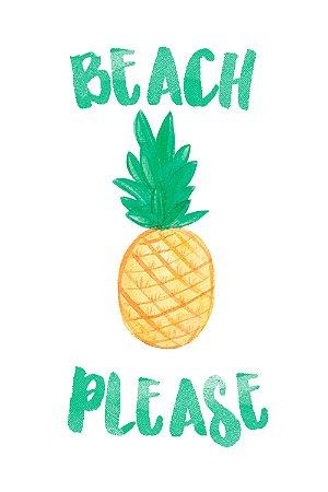 Quadro com Frase - Beach Please