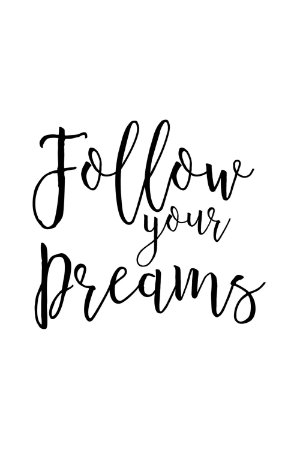 Quadro com Frase - Follow your dreams 2