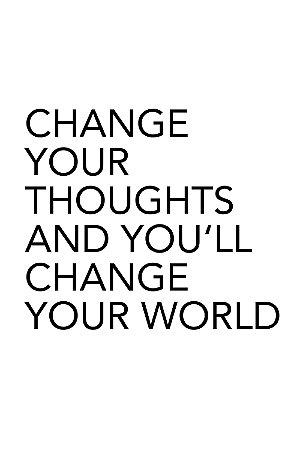 Quadro com Frase - Change your world