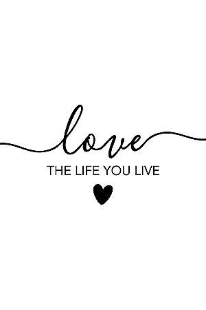 Quadro com Frase - Love the life you live