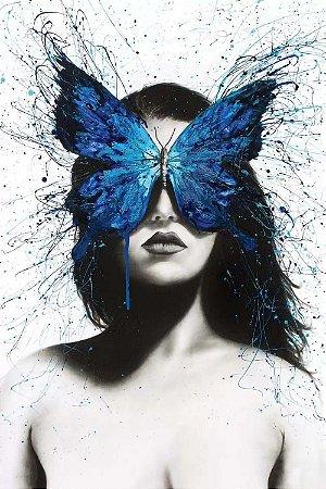 Quadro Moderno - Borboleta Azul