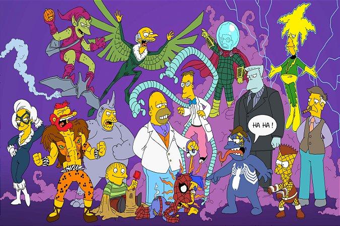Quadro Simpsons - Homem Aranha