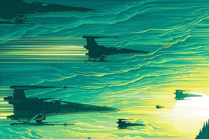 Quadro Star Wars - Naves Aliança Rebelde