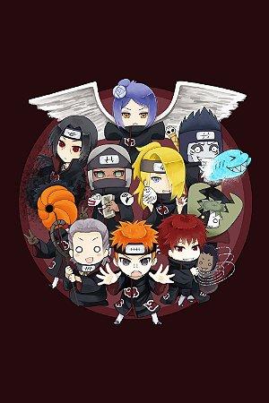 Quadro Naruto - Akatsuki Artístico