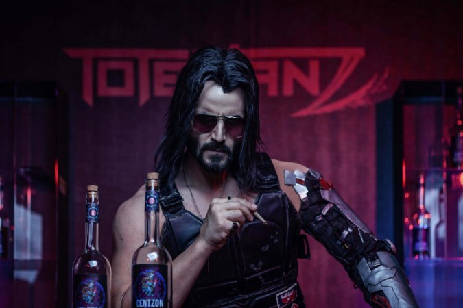 Quadro Gamer Cyberpunk 2077 - Keanu Reeves