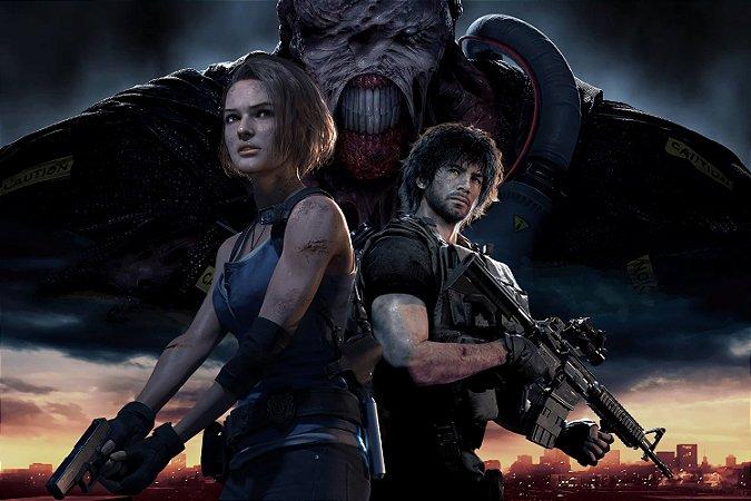 Quadro Gamer Resident Evil 3 - Jill e Carlos