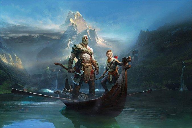 Quadro Gamer God of War - Kratos e Atreus