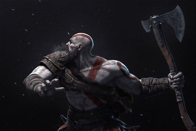 Quadro Gamer God of War - Kratos 2