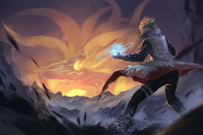 Quadro Naruto - Minato vs Kurama