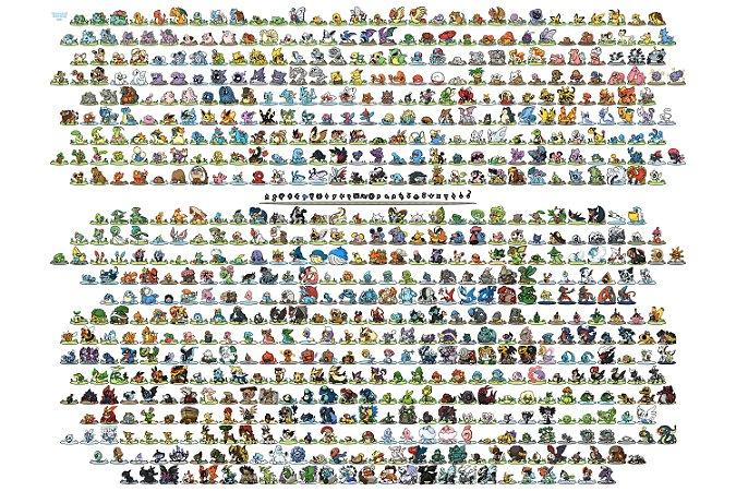 Quadro Pokémon - Todos os Pokémons