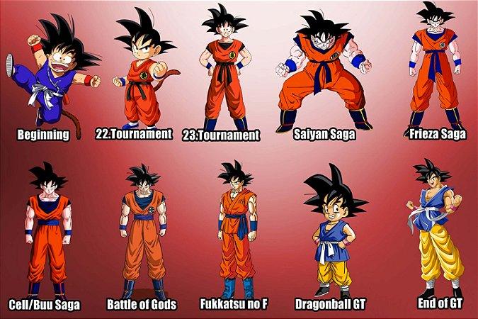 Quadro Dragon Ball - Evolução do Goku