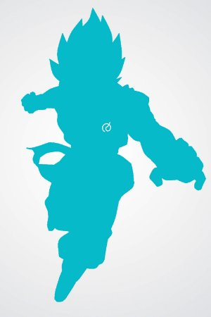 Quadro Dragon Ball - Goku Azul Minimalista