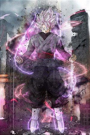 Quadro Dragon Ball - Goku Black Super Saiyajin Rosé 2