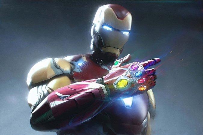 Quadro Iron Man - Manopla do Infinito 7