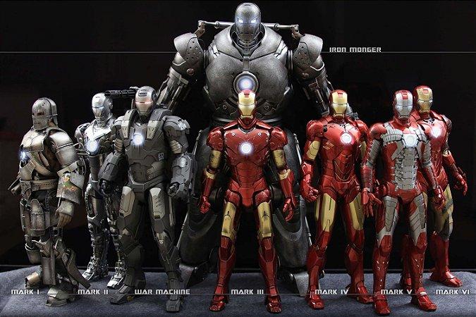Quadro Homem de Ferro - Armaduras 2