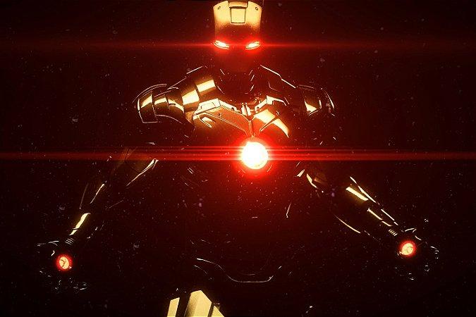 Quadro Homem de Ferro - Black 3