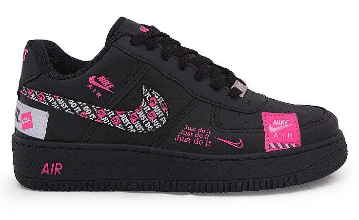 nike air force preto e rosa