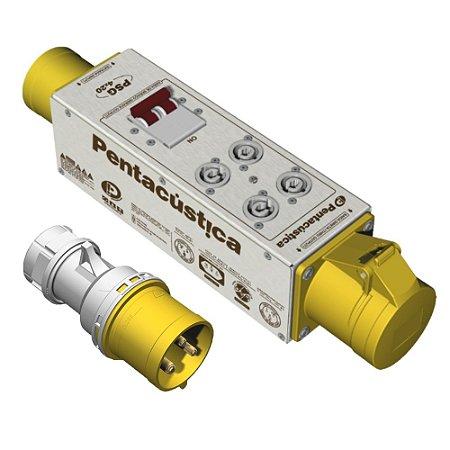 Régua de Energia Alta Potência Pentacústica Psg 4 X 20 Pc 110 V + Plugue CEE 32A