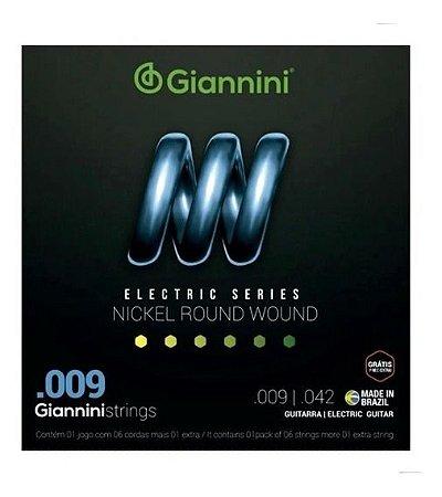Encordoamento Giannini Guitarra 0.9  Geegst