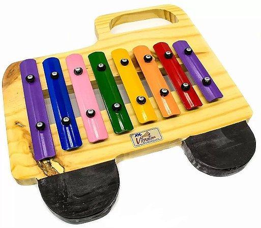 Metalofone Infantil Jog Vibratom Caminhao Colorido P 2233