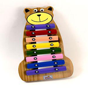 Metalofone Infantil Jog Music Urso Colorido P 2236