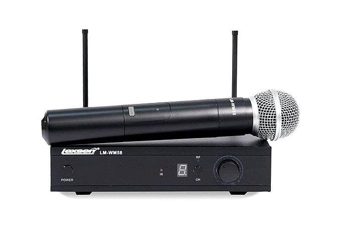Microfone sem fio de mão Lexsen Lm 58 U Pll
