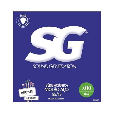 Encordoamento Violao Aco 0.10 Sg Light