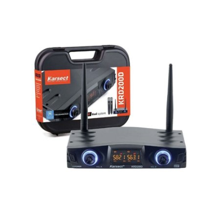 Microfone S/Fio Karsect Krd 200 Dh Duplo Headset