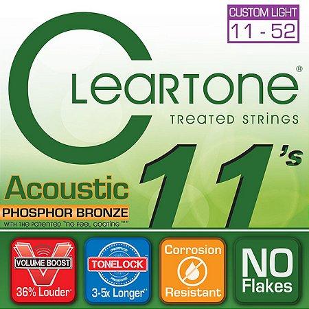 Encordoamento para Violão Cleartone 0.11 Phosphoro Custom Light