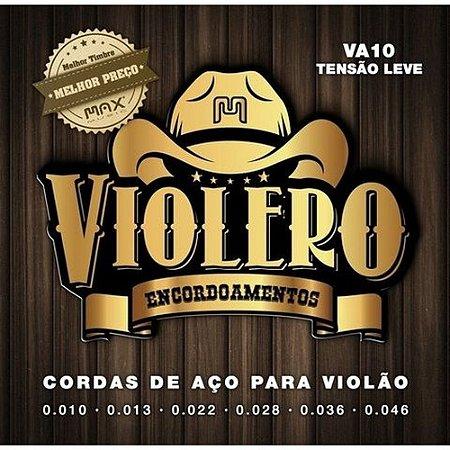 Encordoamento de Violão de aço 010 - Max Music Violero Va10